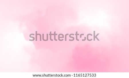 Abstract pink white soft cloud background in pastel colorful gradation.