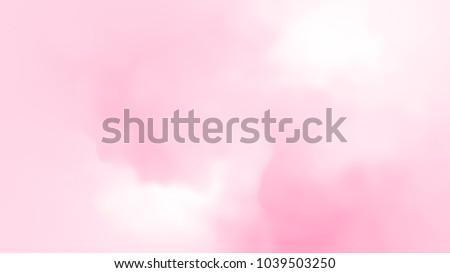 Abstract pink white soft cloud background in pastel colorful gradient.