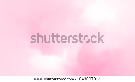 Abstract pink white soft light gradient cloud background in pastel color. Use for concept design wallpaper mothers day and valentine festival of love.