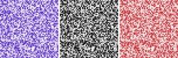 Abstract pixel backgrounds set. Black, violet, red colors. Pixel pattern.