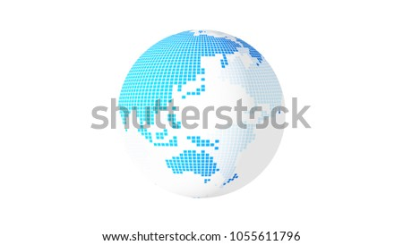 abstract planet earth 3d illustration