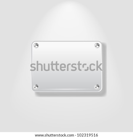 Abstract Plastic Plate on White Background - vector version in portfolio