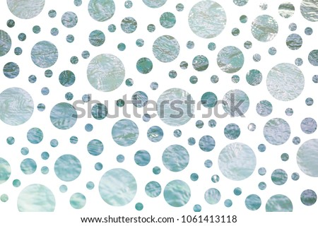 Abstract polka dot pattern with blue dots #1061413118