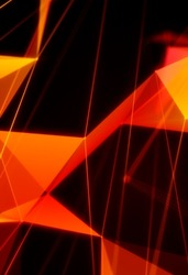 Abstract polygonal background. Modern background with polygonal plexus shape