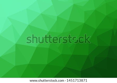 Abstract polygonal mosaic background. Multicolor low poly gradient background. Crystal polygon background. Green polygon background.