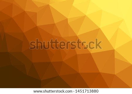 Abstract polygonal mosaic background. Multicolor low poly gradient background. Crystal polygon background. Orange polygon background.