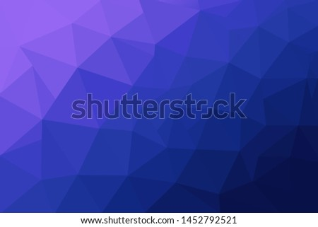 Abstract polygonal mosaic background. Multicolor low poly gradient background. Crystal polygon background. Blue polygon background.