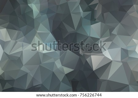 Abstract Polygonal Mosaic background of triangles gray, black color. Blurry grid. illustration for business artwork. Creative Design Templates. For banners, poster, postcards, holiday.