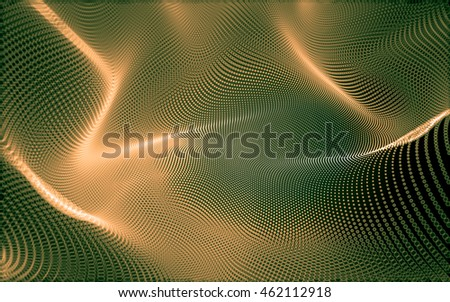 Abstract polygonal space low poly dark background with connecting dots and lines. Connection structure. 3d rendering #462112918