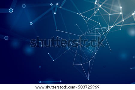 abstract polygonal space low...