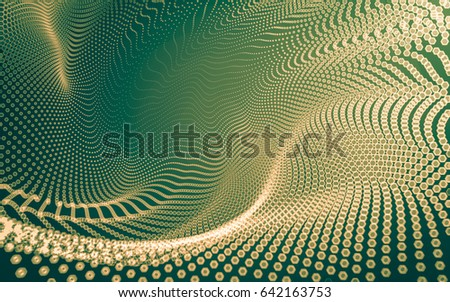 Abstract polygonal space low poly dark background with connecting dots and lines. Connection structure. 3d rendering #642163753