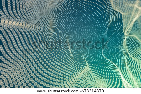 Abstract polygonal space low poly dark background with connecting dots and lines. Connection structure. 3d rendering #673314370