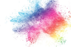 abstract powder splatted background,Freeze motion of color powder exploding/throwing color powder, multicolor glitter texture