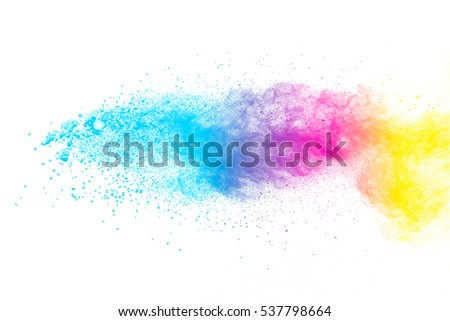 abstract powder splatted background,Freeze motion of color powder exploding/throwing color powder, multicolor glitter texture - Shutterstock ID 537798664