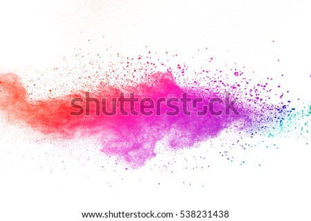 abstract powder splatted background,Freeze motion of color powder exploding/throwing color powder,color glitter texture on white background - Shutterstock ID 538231438