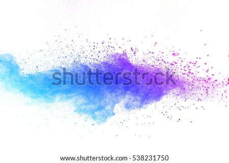 abstract powder splatted background,Freeze motion of color powder exploding/throwing color powder,color glitter texture on white background - Shutterstock ID 538231750