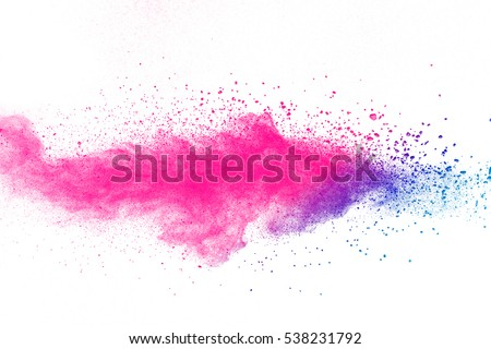 abstract powder splatted background,Freeze motion of color powder exploding/throwing color powder,color glitter texture on white background - Shutterstock ID 538231792