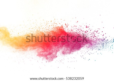 abstract powder splatted background,Freeze motion of color powder exploding/throwing color powder,color glitter texture on white background - Shutterstock ID 538232059