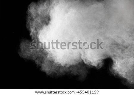 abstract powder splatted background,Freeze motion of white powder exploding/throwing white powder #455401159
