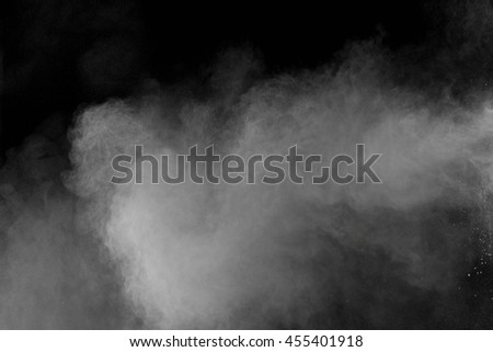 abstract powder splatted background,Freeze motion of white powder exploding/throwing white powder #455401918