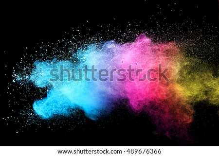 abstract powder splatted background,Freeze motion of white powder exploding/throwing white powder - Shutterstock ID 489676366
