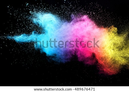 abstract powder splatted background,Freeze motion of white powder exploding/throwing white powder - Shutterstock ID 489676471