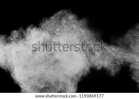 abstract powder splatter on black background. Freeze motion of color powder explode. color powder splash #1190869177