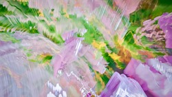 Abstract Psychedelic Background Art. Textured rainbow motion blur space portal.Technology Digital Texture Concept Photo. Venture Tech Software Design