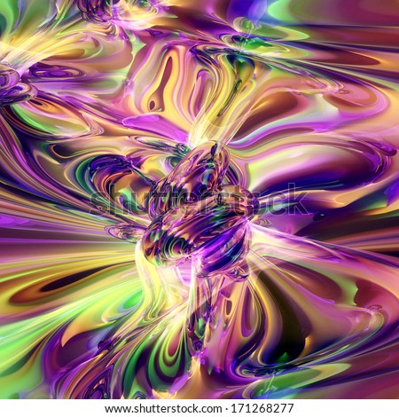 Abstract psychedelic fractal background. - stock photo