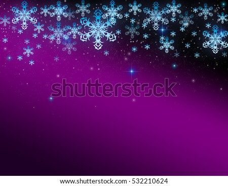 abstract purple christmas background with snowflakes ez canvas