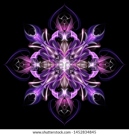 abstract purple flower with stars looks like mandala Сток-фото ©