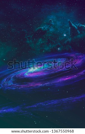 Abstract purple galaxy  #1367550968