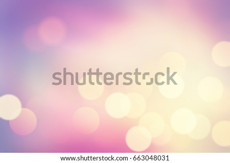 Abstract purple gradient and light with bokeh background