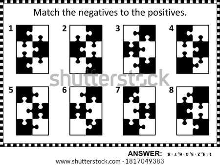 Abstract puzzle or riddle for adults (children are welcome, too) for IQ training or just for fun entertainment. Answers are included.  Сток-фото ©