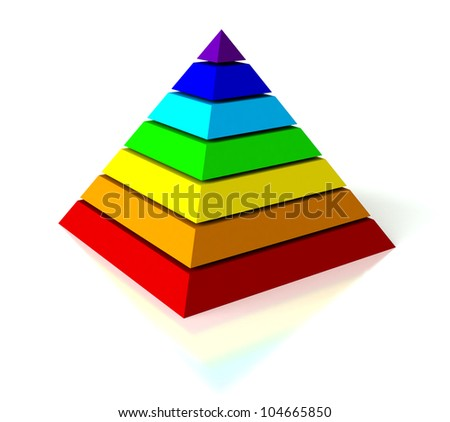 Abstract pyramid - stock photo