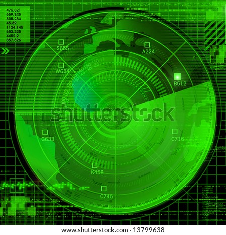 Abstract radar illustration