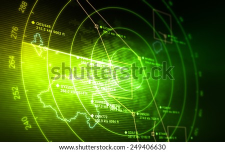 Abstract radar with targets in action. Сток-фото ©