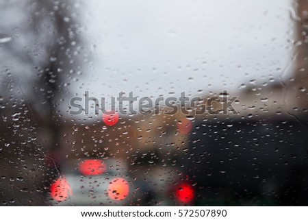 abstract rain and traffic  #572507890