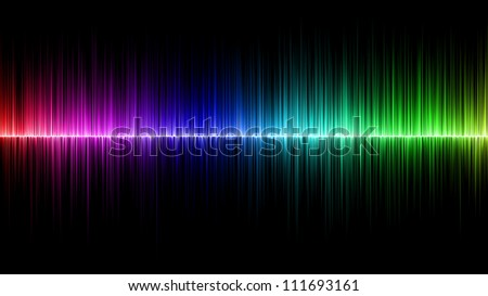 Abstract rainbow wave colours