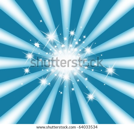 abstract ray lighting with stars