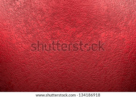 Abstract Red Background Christmas Color Wall Paint Plaster