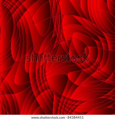 Abstract red background from whirlpool of lines, a wave