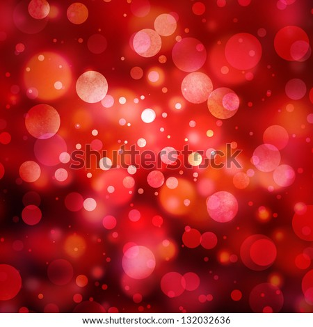 abstract red background glitter lights round shapes geometric circle background sparkling fantasy dream background bright white festive bubble Christmas background blur bokeh lights, shine texture
