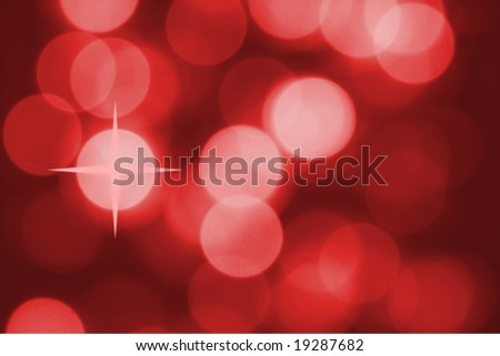 Abstract red background of lights - stock photo
