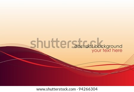 Abstract red background. Raster version