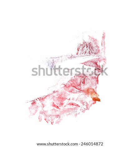 abstract Red, brown drawing stroke ink watercolor brush water color splash paint watercolour background (2) #246014872