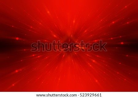 Abstract red fractal composition. Magic explosion star with particles. motion illustration.