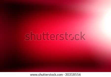 Abstract red light background with gradient.