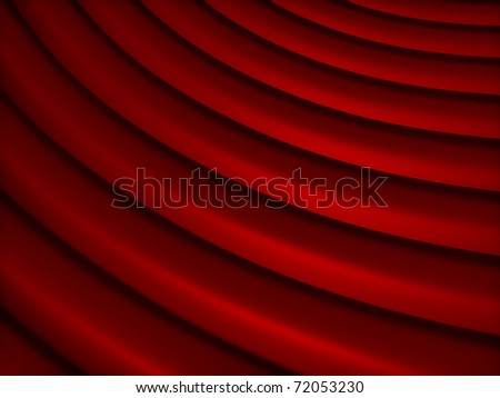Abstract red metallic background with curve lines