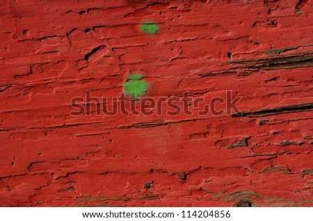 Abstract red painted plank background